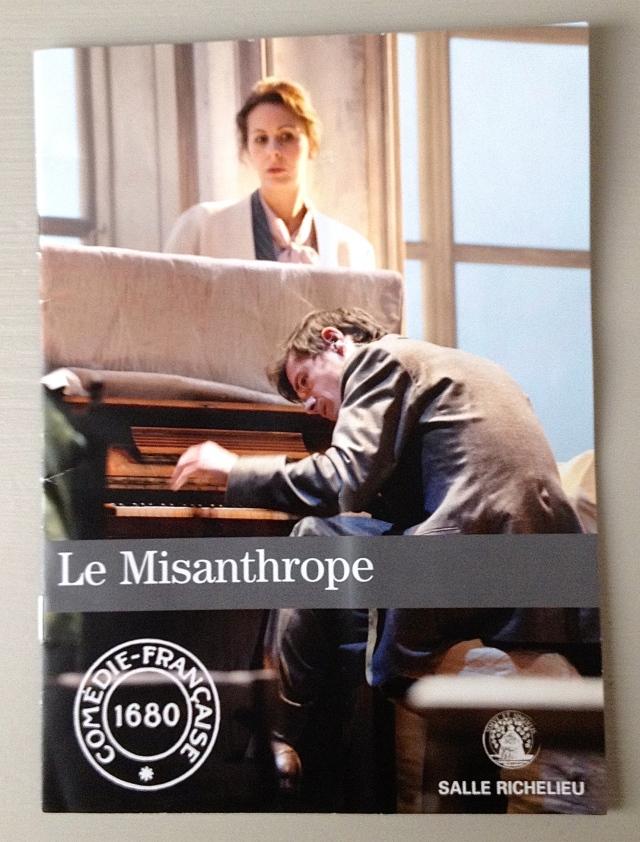 Georgia Scalliet as Célimène, and Löic Corbery as Alceste, in Molière's  Le Misanthrope, 2014. Photo © Brigitte Enguérand.