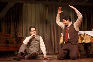 Tony Shaloub as George S. Kaufman and Santino Fontana as Moss Hart, in the Lincoln Center Theater production of ACT ONE