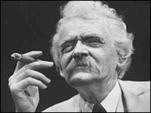 Hal Holbrook as Mark Twain.  When he was younger, the makeup process used to take four hours.  -- Less, now!